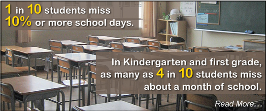 1 in 10 students miss 10% or more school days.